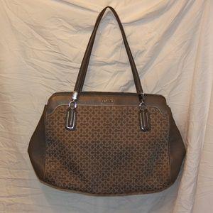 Coach 25213 Op Art Needlepoint Carryall Bag